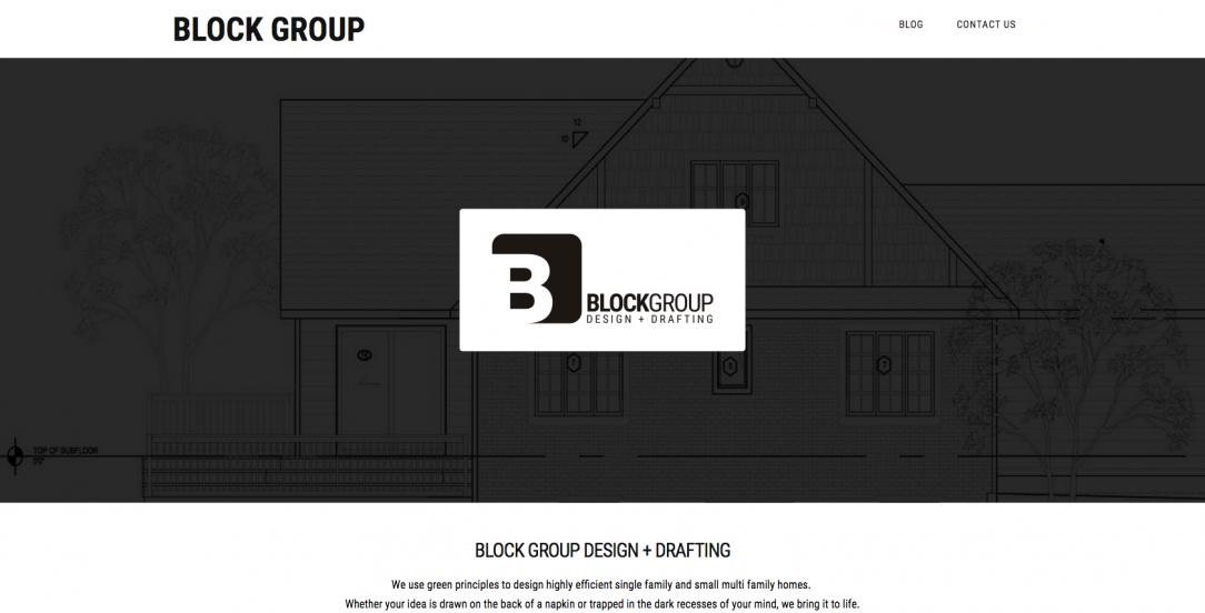 Block Group website by Peak