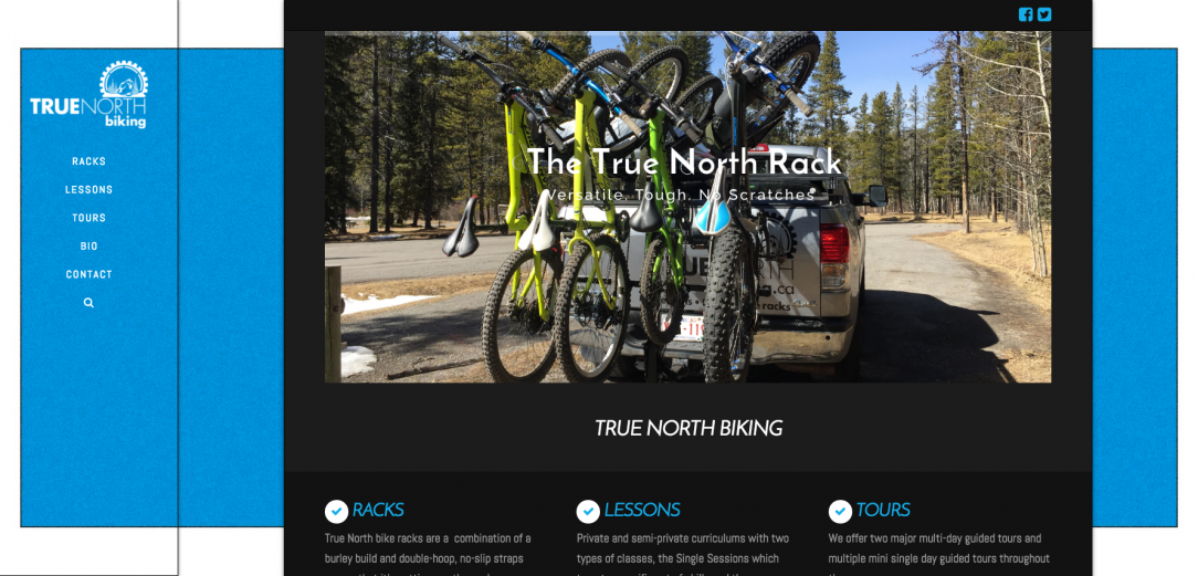 True North Biking Website by Peak