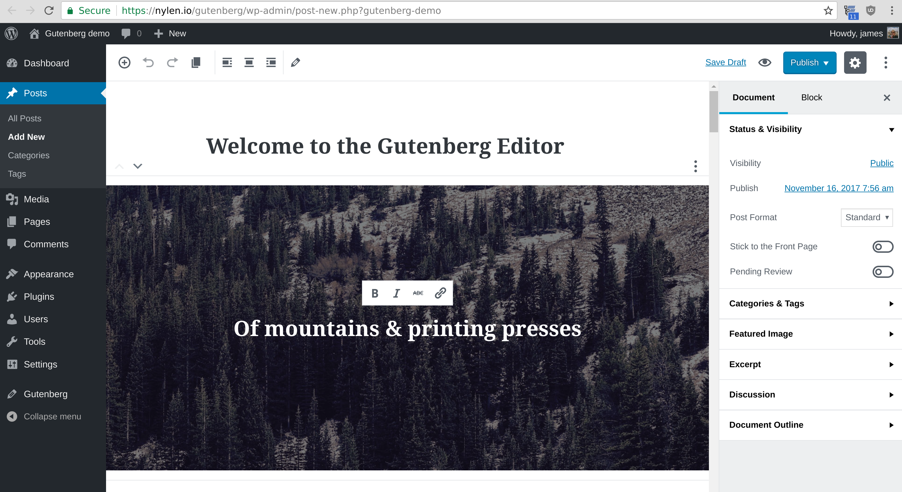 WordPress 5.0 release imminent with its Gutenberg editor going live December 6